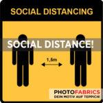 SocialDistanceAufkleber